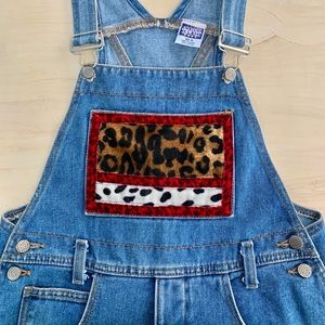 Vintage Overalls With Faux Fur by Watch LA NWOT